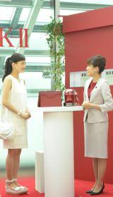 SK-II新CM発表会に登場した綾瀬はるか 肌年齢マイナス10歳と診断されご満悦 (C)oricon ME inc.