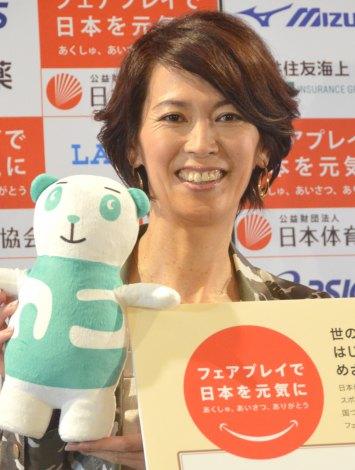 『日本フェアプレイ大賞2015-2016』募集開始発表会に出席した有森裕子 (C)ORICON NewS inc.