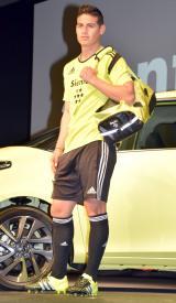 TOYOTA『新型 シエンタ』の記者発表会見に出席したハメス・ロドリゲス選手 (C)ORICON NewS inc.