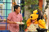 まんまコーナーでは、まんまが平野レミに対抗して、さんまのために手作りチャーハンを振舞う(C)関西テレビ