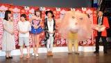 『よしもと47シュフラン2015』の認定式に出席した(左から)未知やすえ、山田花子、さゆり、野沢直子、チョコレートプラネット (C)ORICON NewS inc.