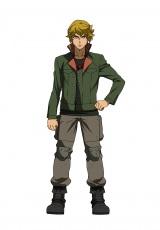 10月スタートの新作テレビアニメ『機動戦士ガンダム 鉄血のオルフェンズ』に登場するキャラクターのユージン・セブンスターク(C)創通・サンライズ・MBS