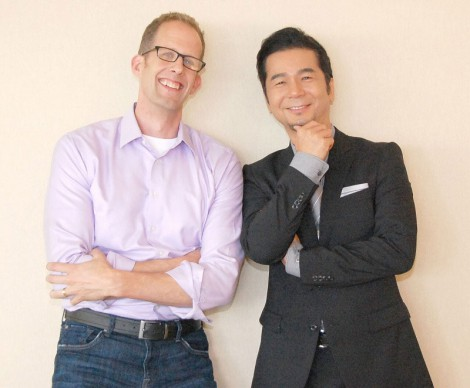 ディズニー/ピクサー最新作『インサイド・ヘッド』について語り合った(左から)ピート・ドクター監督、DREAMS COME TRUEの中村正人 (C)ORICON NewS inc.