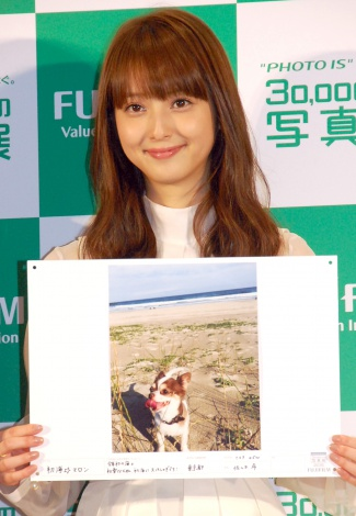 """佐々木希が撮影した愛犬の写真も公開=富士フイルム『""""PHOTO IS""""想いをつなぐ。30,000人の写真展』記者発表会 (C)ORICON NewS inc."""