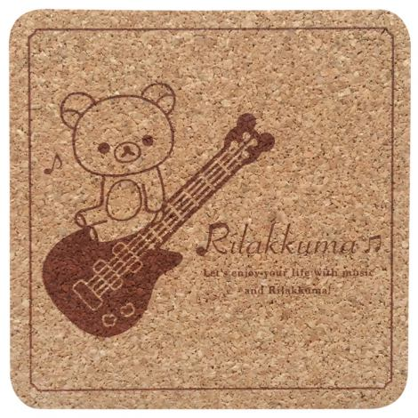 『RILAKKUMA × TOWER RECORDS CAFE コラボコースター 2015』 200円(税別) ?2015 San-X Co., Ltd. All Rights Reserved.
