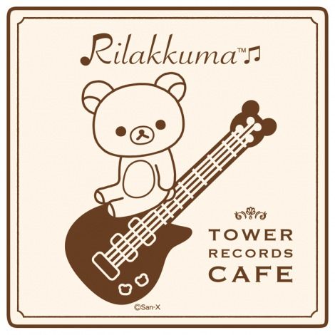 『RILAKKUMA × TOWER RECORDS CAFE コラボミニハンドタオル 2015』 500円(税別) ?2015 San-X Co., Ltd. All Rights Reserved.