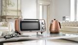 スタイリッシュなデザイン「ディスティンタコレクション」(デロンギ・ジャパン)のオーブン&トースターと電気ケトル