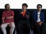 庵野秀明氏(左)とタッグを組むドワンゴの川上量生氏(中央)。右は鶴巻和哉氏 (C)ORICON NewS inc.