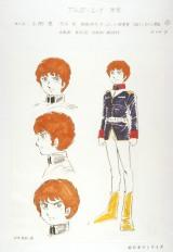 『機動戦士ガンダム展THE ART OF GUNDAM』最初期設定:アムロ・レイのラフデザイン(安彦良和 1978年)(C)創通・サンライズ