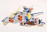 『機動戦士ガンダム展THE ART OF GUNDAM』準決定稿:ホワイトベース(大河原邦男 1978 年)(C)創通・サンライズ