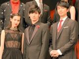 壮絶な撮影秘話を告白した(左から)水原希子、三浦春馬、長谷川博己 (C)ORICON NewS inc.
