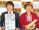 (左から)千原ジュニア 、山崎静代 (C)ORICON NewS inc.