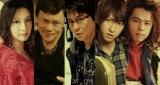 哀川翔の初ミュージカル『HEADS UP!』出演者(左から)大空祐飛、橋本じゅん、哀川、相葉弘樹、中川晃教