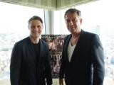 6月に『GOTHAM/ゴッサム』のプロモーションで来日したベン・マッケンジー(左)とショーン・パートウィー(右) (C)ORICON NewS inc.