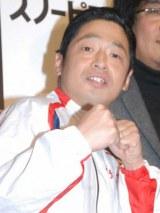 トライアスロン大会で転倒し負傷した団長安田 (C)ORICON NewS inc.