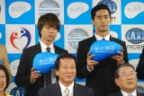 肝炎の早期検査訴えたEXILEのTAKAHIRO、EXILE兼三代目 J Soul Brothersの小林直己 (C)ORICON NewS inc.