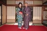 今秋スタートの連続テレビ小説『あさが来た』で共演する波瑠と笑福亭鶴瓶(C)NHK