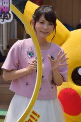 東京・池袋のサンシャインシティで始まった『夏休みポケモンカーニバルinサンシャインシティ』オープニングイベントに出席した中川翔子 (C)ORICON NewS inc.