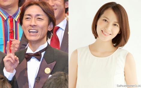 サムネイル 第2子妊娠を生報告した青木裕子(右)と2児のパパとなる矢部浩之 (C)ORICON NewS inc.