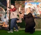 映画『ビッグゲーム 大統領と少年ハンター』公開記念イベントに出席したおかずクラブ(左から)オカリナ、ゆいP (C)ORICON NewS inc.