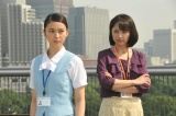 新人OL役の武井咲(左)と『ショムニ』OLだった櫻井淳子(右)が激突。『エイジハラスメント』第4話(7月30日放送)(C)テレビ朝日