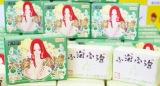 マンガ・ワンピースのキャラクター「蛇姫ボア・ハンコック」が描かれた新パッケージの「ふ泡ふ泡石鹸シークヮーサー」