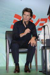 『ミッション:インポッシブル/ローグ・ネイション』記者会見に出席したトム・クルーズ