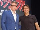 映画『ミッション:インポッシブル/ローグ・ネイション』のレッドカーペットイベントに出席した(左から)クリストファー・マッカリー監督、トム・クルーズ (C)ORICON NewS inc.