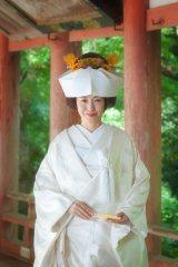 挙式で白無垢の花嫁姿を披露した杉崎美香