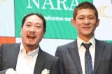 笑い飯の(左から)西田幸治、哲夫
