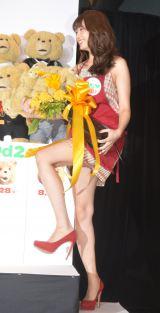 映画『テッド2』の日本語吹き替え版完成公開アフレコイベントに出席したAKB48・小嶋陽菜 (C)ORICON NewS inc.