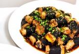 """ニコニコのり新商品発表会で紹介された、""""海苔""""を使ったアイデアレシピ「豚肉とお芋の照り焼き」 (C)oricon ME inc."""
