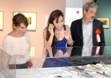 『日本語版刊行15周年 リサとガスパール展』に来場した(左から)アン、中村アン、ゲオルグ (C)ORICON NewS inc.