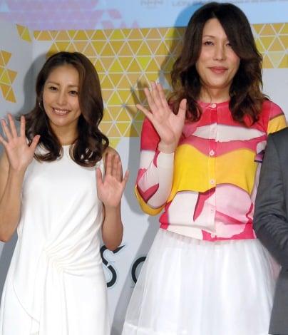 アクションRPGゲーム『ソウルワーカー』プロジェクト発表会に出席した(左から)熊切あさ美、KABA.ちゃん (C)ORICON NewS inc.