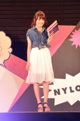 ファッションショー『NYLON JAPAN×WEGO meets AKB48 group produced by GirlsAward in a-nation island』に登場した入山杏奈