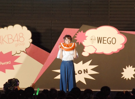 ファッションショー『NYLON JAPAN×WEGO meets AKB48 group produced by GirlsAward in a-nation island』に登場した高橋みなみ (C)ORICON NewS inc.