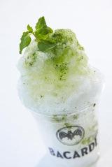 東京ミッドタウンにて17日より開催「バカルディ ミッドパークカフェ」モヒートかき氷 (税込600円)(C)oricon ME inc.