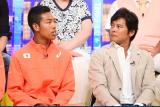 サニブラウン・ハキーム選手(左)を激励した織田裕二(右)(C)TBS