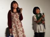 映画『BORUTO-NARUTO THE MOVIE-』初日カウントダウンイベントの模様(左から)中村千絵、菊池こころ (C)ORICON NewS inc.