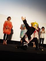 映画『BORUTO-NARUTO THE MOVIE-』初日カウントダウンイベントの模様。主役のうずまきボルト(C)ORICON NewS inc.