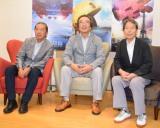 映画『ピクセル』の座談会に出席した(左から)横山茂氏、岩谷徹氏、西角友宏氏 (C)ORICON NewS inc.