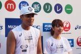 『未来(あした)への道 1000km縦断リレー2015』に参加した三代目JSB・ELLYとE-Girls・Aya