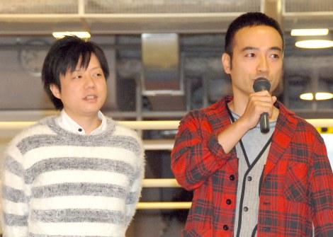 映画『サボタージュ』公開記念イベントに出席した(左から)槙尾ユウスケ、岩崎う大 (C)ORICON NewS inc.