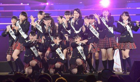 『第2回AKB48グループドラフト会議』で元気いっぱいにパフォーマンスしたドラフト候補者 (C)ORICON NewS inc.