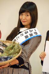『新潟ふるさと名物商品PR大使就任式』に出席した北原里英 (C)ORICON NewS inc.