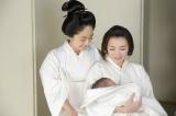 8月16日放送、第33回「花となるために」銀姫(田中麗奈)は元気な男の子を出産する(C)NHK