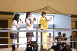 『SKE48松井玲奈 卒業記念イベント』より「松井玲奈との思い出争奪名古屋横断ウルトラクイズ」の模様。木本花音と一色嶺奈もサプライズで出題に参加(C)AKS