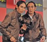 映画『ナイトクローラー』の公開直前イベントに登場したアンガールズ(左から)山根良顕、田中卓志 (C)ORICON NewS inc.
