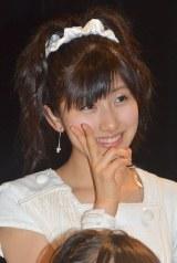 シングル「Oh my wish!/スカッとMy Heart/今すぐ飛び込む勇気」リリースイベントに出席したモーニング娘。'15・佐藤優樹 (C)ORICON NewS inc.