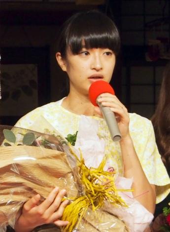 NHK連続テレビ小説『まれ』クランクアップ会見に出席した門脇麦 (C)ORICON NewS inc.